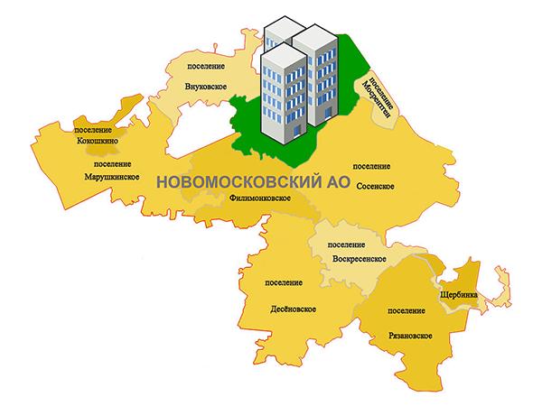 Жильё в поселении Московский Новой Москвы